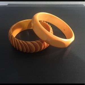Bakelite bangles Engraved VERIFIED